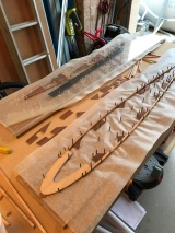Laying out the gussets and capstrip